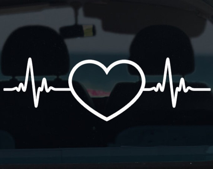 Heartbeat Vinyl Decal
