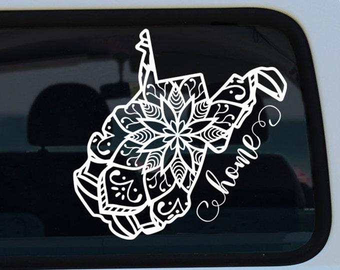 West Virginia State Mandala Decal