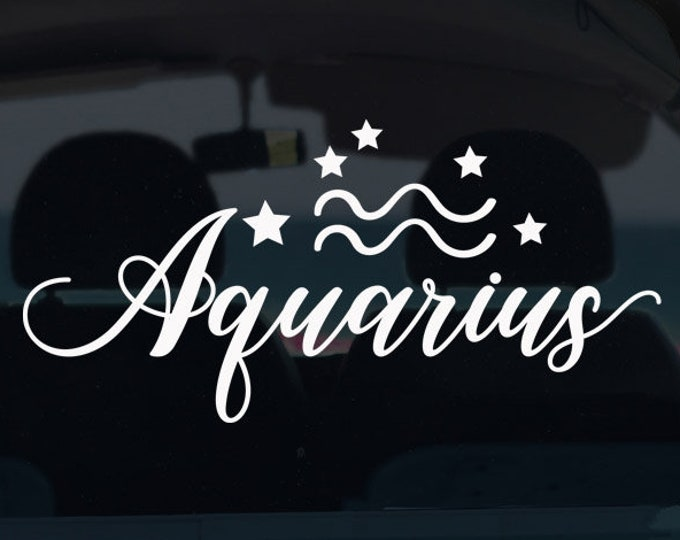 Aquarius Zodiac Decal
