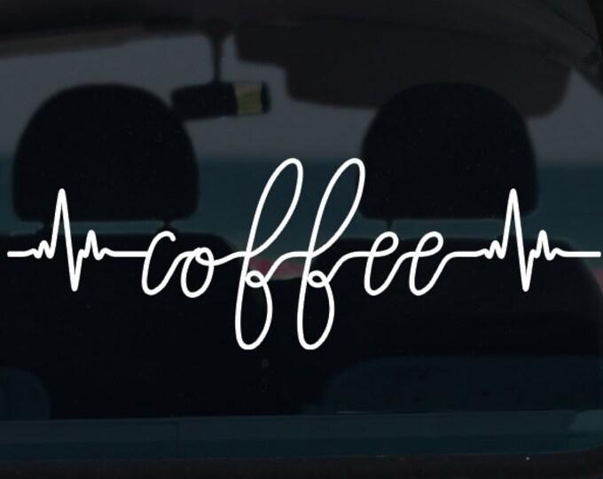 Coffee Heartbeat Vinyl Decal