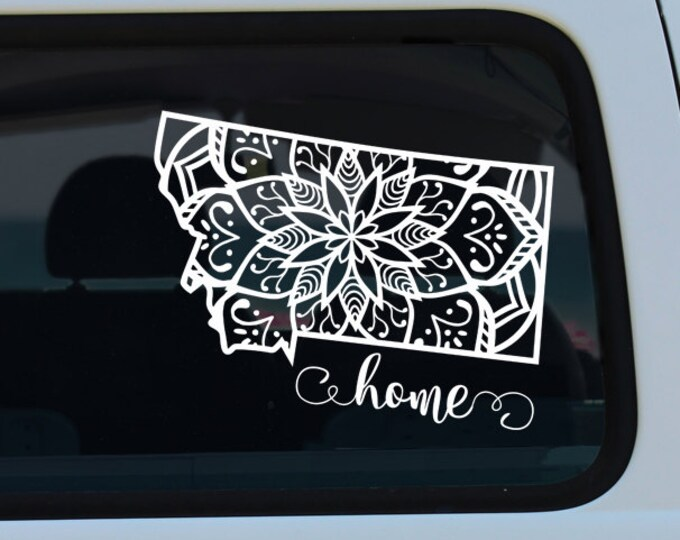 Montana Mandala Decal Sticker