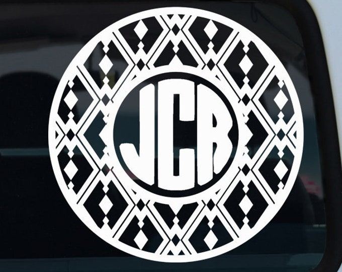 Diamond Circle Monogram Decal