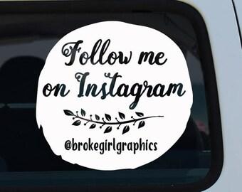 Follow on Instagram Decal