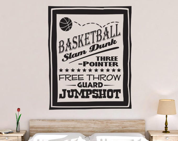 Basketball Poster Vinyl Wall Decal