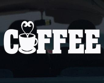 Coffee Decal - Coffee - Vinyl Decals - Coffee Sticker - Vinyl Car Decal - Car Decal  - Coffee Car Decal - Vinyl Sticker - Decals - Stickers