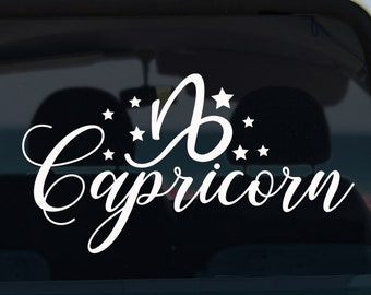 Capricorn Zodiac Decal