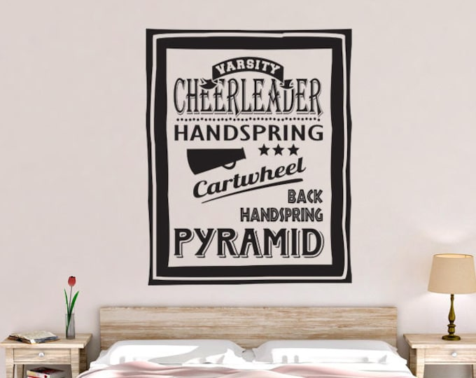 Cheerleader Poster Vinyl Wall Decal