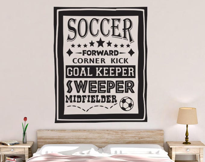 Soccer Poster Wall Decal
