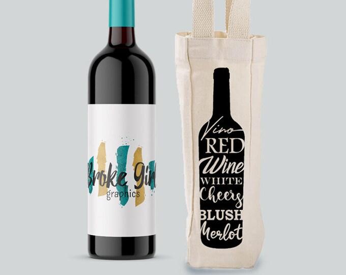 Wine Bottle Wine Tote Bag