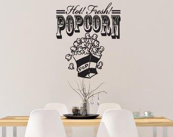 Hot Fresh Popcorn Wall Decal