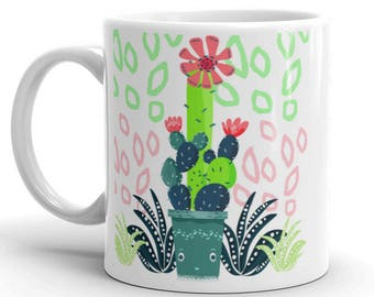 Happy Cactus Mug