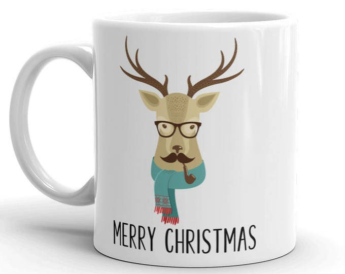 Holiday Hipster Deer Mug