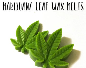 Marijuana Leaf Shape Soy Wax Melts
