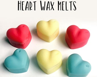 Heart Wax Melts - Wax Melts - Soy Wax Melts - Heart - Wax Melts Molds - Wax Tarts - Soy Wax Tarts - Candles - Home Fragrance - Scented Wax