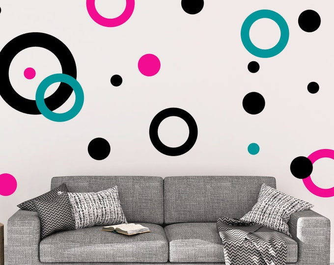 Rings and Dots Vinyl Wall Decals
