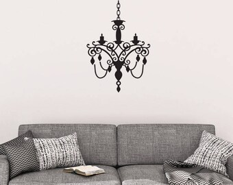 Chandelier Wall Decal   Chandelier Wall Decor   Vinyl Wall Decal    Chandelier   Wall Decals