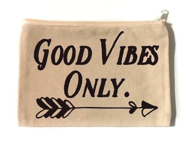 Good Vibes Only Make Up Bag