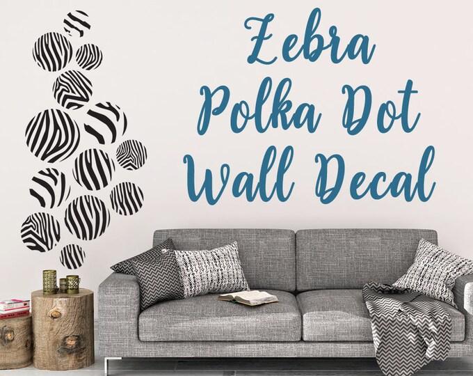 Zebra Print Dot Vinyl Wall Decal