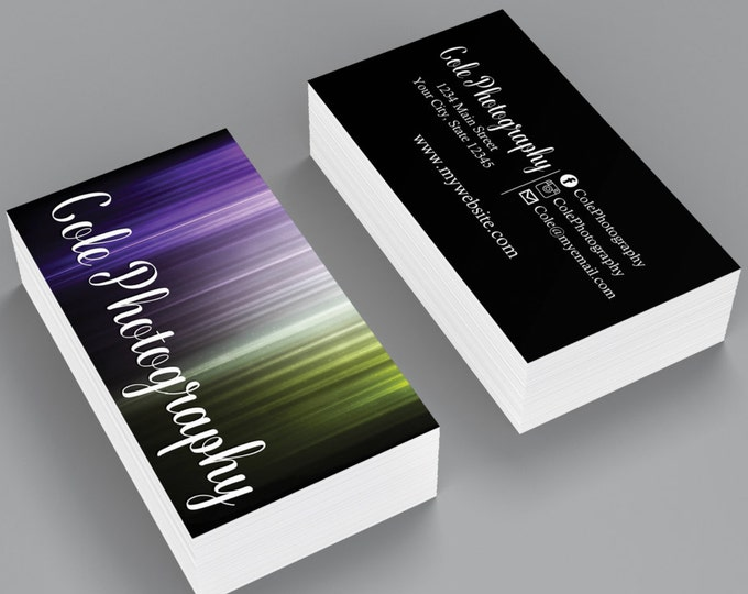 Custom Professional Business Cards - Abstract Glitter