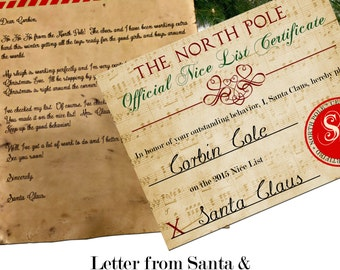 Custom Santa Letter and Certificate