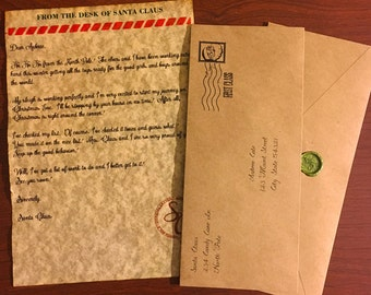 Custom Santa Letter and Wax Sealed Envelope