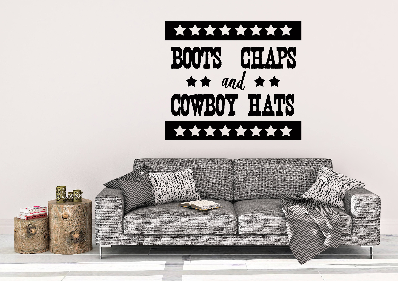 Cowboy Hats Wall Decal - Cowboy Wall Decor - Vinyl Wall Decal - Boots Chaps - Cowboy Hats Decals - Western Decor - Western Wall Art  sc 1 th 189 & Cowboy Hats Wall Decal - Cowboy Wall Decor - Vinyl Wall Decal ...