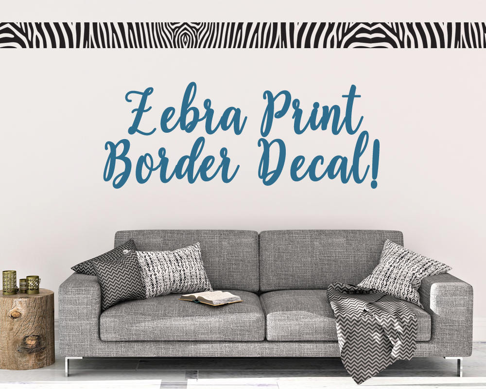 Zebra Print Border Wall Decal - Wall Decal - Zebra Print - Border ...