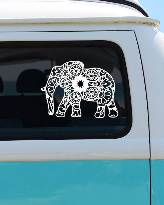 Elephant mandala vinyl window decal car sticker car decal