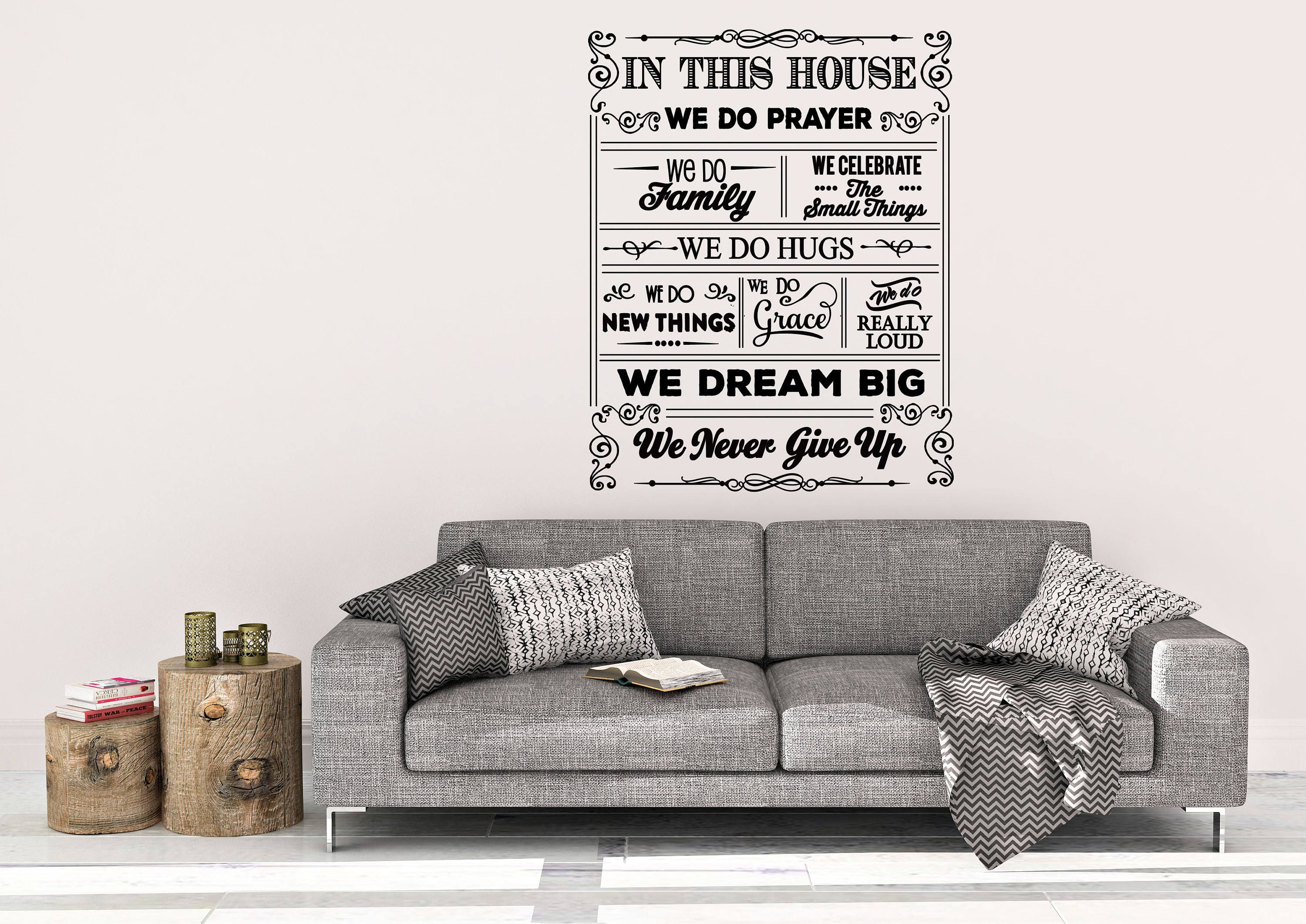 In This House Wall Decal House Decal Home Wall Decal Wall