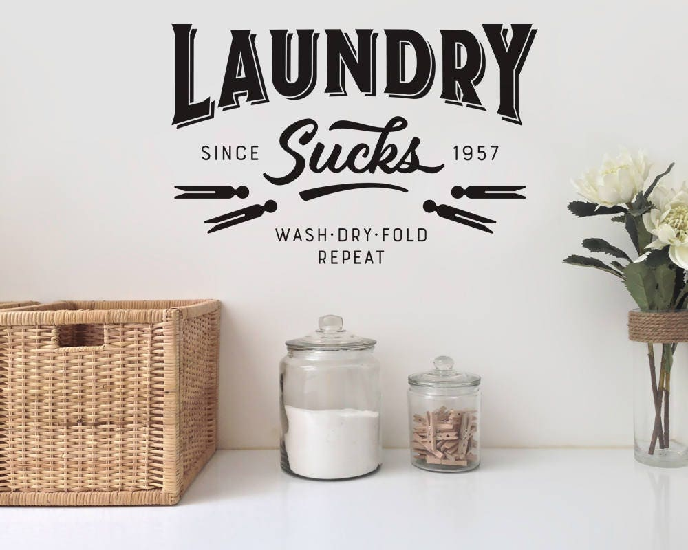 Marvelous Laundry Sucks Wall Decal   Laundry Wall Decal   Laundry Room Decor ...