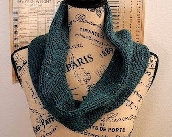 Cowl- Atlantis Heather - Knitted