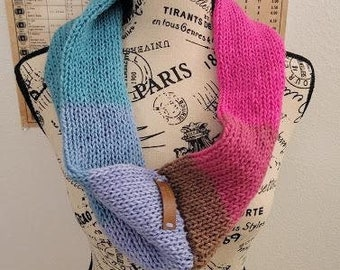 Infinity Scarf - Unicorn - Knitted
