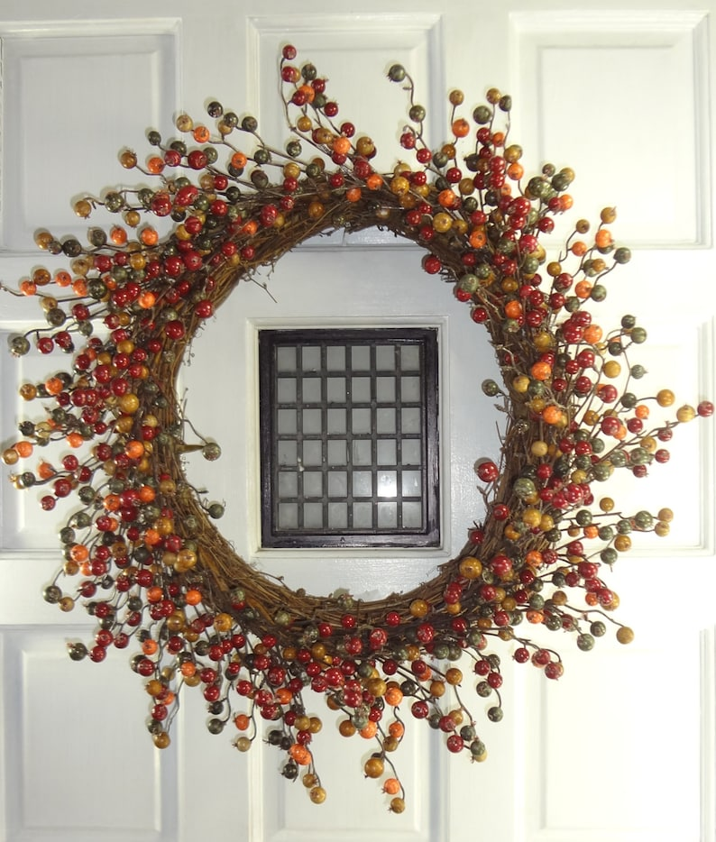 24 Fall Berry Wreath
