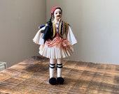 Vintage, 1950s, Souvenir, Doll, In, Greek, Folk, European, Men s, Dance, Costume, Male, Figure, Collectible, Scale Model, Figurine, Present