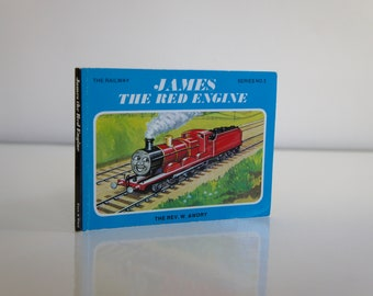 Vintage James The Red Engine Thomas Tank Book Children Story Gift Son Daughter Boy Girl Collectible Railway