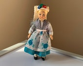 Pretty, Vintage, 1960s, Souvenir, Fabric, Doll, In, Colourful Floral, Folk, European, Costume, Figure, Collectible, Gypsy, Romany, Gift, Mum