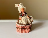 Vintage, 1 16th, 12th Scale, Dolls House, Miniature, Folk, Doll, In, Traditional, European, Costume, And And Headdress, Souvenir, Figure