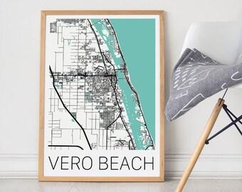 Vero Beach / Vero Beach Poster / Vero Beach Map /Vero Beach Print  / Map Print / Vero Beach Print  / Vero Map / Wall Art