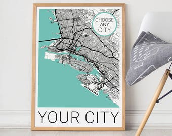 Custom City Map/Custom Map/Custom Map Print/Custom Map Poster/Custom Map Art/Custom City/Pick any city/Map Art/City Map Art/Custom Map Gift