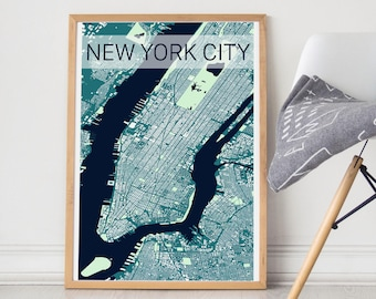 New York City Map / New York City Poster / NYC Print/ New York City Art / New York City Print / NY Building Map/ Manhattan / Manhattan Print