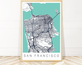 San Francisco Elevation Map San Francisco Topographical Map Etsy
