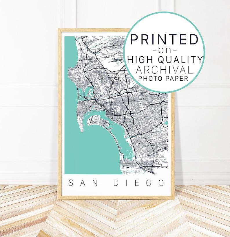 San go Map Art Print Map of San go California City | Etsy California Map San Go on