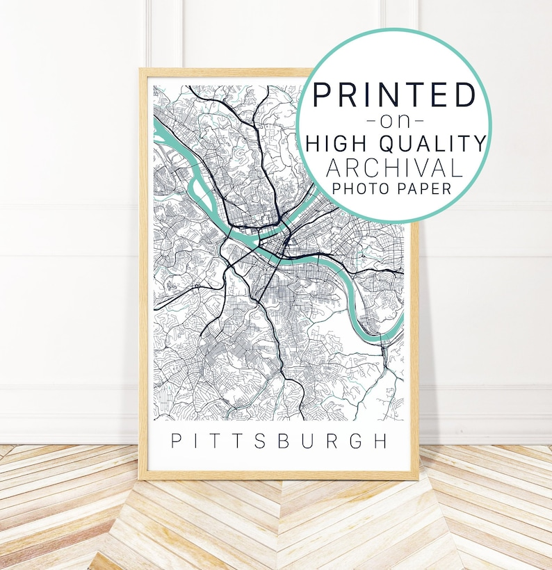 Pittsburgh City Map Art Print - Map of Pittsburgh PA - City Art - Printed on map of ms, map of ohio, map usa, map of ia, map of pennsylvania with cities, map of tn, map of harrisburg pennsylvania, google maps pa, map of colonial pennsylvania, map of new york, map of wi, map of panama, county map pa, map of il, map of az, map of oh, map of wv, map of western pennsylvania, map of mn, map of philadelphia,