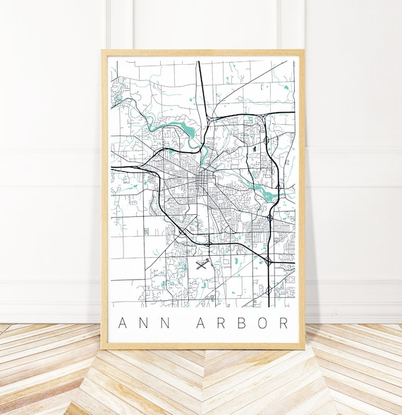 Ann Arbor Michigan Map Art Print - Map of Ann Arbor MI - City Art - on map of bellevue mi, map of burtchville mi, map of goodells mi, map of britton mi, map of huron river mi, map of grosse pointe farms mi, map of port sanilac mi, map of filion mi, map of east jordan mi, map of cannonsburg mi, map of irish hills mi, map of three oaks mi, map of alcona county mi, map of saint clair shores mi, map of buchanan mi, map of reading mi, map of pleasant ridge mi, map of bangor mi, map of chesterfield twp mi, map of north oakland county mi,