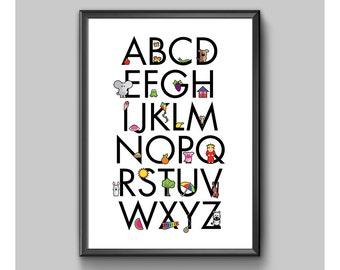Children's Alphabet Poster No. 1