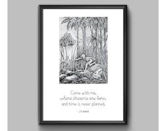 Print - Peter Pan - Come With Me
