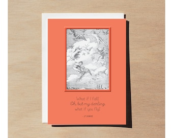 Greeting Card - Peter Pan - What If I Fall