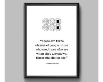 Digital Print - Leonardo Da Vinci - Three Classes