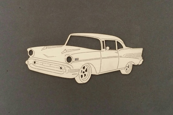 3D Car Sterling Silver vehicle Charm 57 chevy Chevrolet