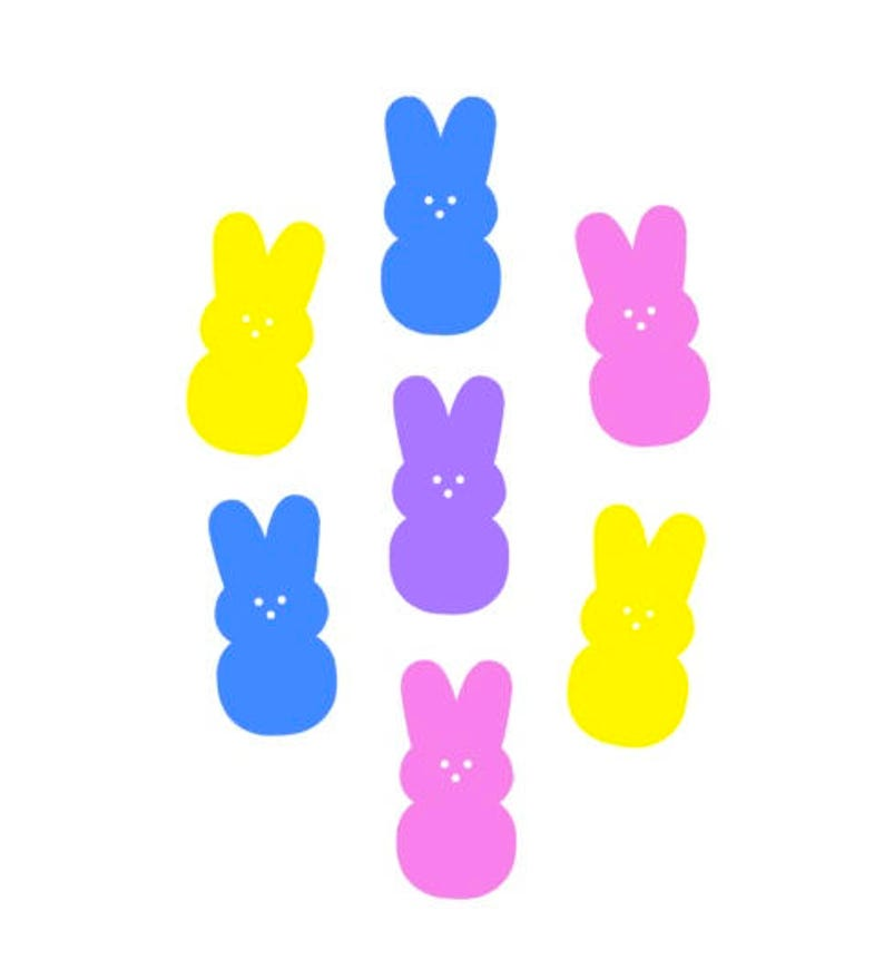 Peep Bunny Die Cut Outs Scrapbooking Party Card Making Stationery Decoration Label Easter Birthday
